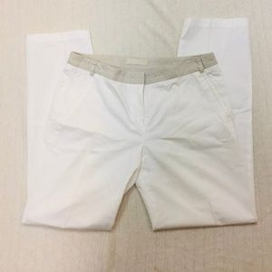 MAXMARA white cotton trouser pants